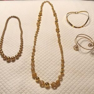 FUNKY, TRENDY GOLD Fashion Jewelry BUNDLE